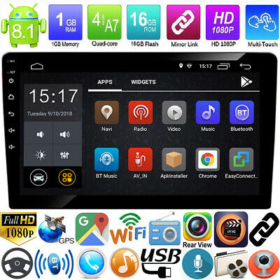 "10.1"" Double 2Din Quad Core Android 8.1 GPS Navi WiFi BT Car Stereo MP5 Player"
