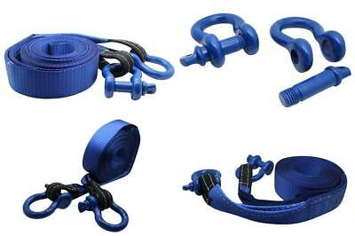 DiversityWrap 7T Tow Strap Heavy Duty Rope Towing Pull Recovery Winch 4x4...