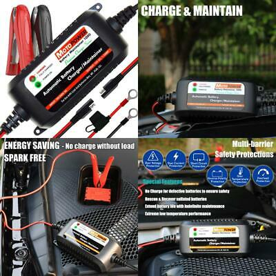 MOTOPOWER MP00206A 12V 1.5Amp Fully Automatic Battery Charger/Maintainer for...