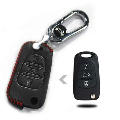 Tuqiang Hand Sew Luxury Genuine Leather Car Remote key Holder Case Cover...