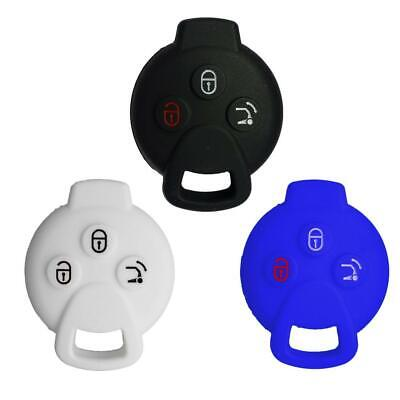 Nicky 3 x Protective Cover for Benz Smart 3-Buttons Car Key Silicone Keys...