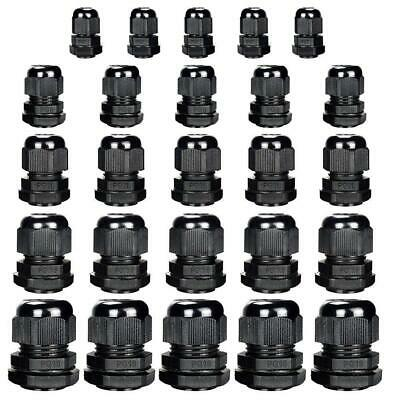 KINYOOO Nylon Cable Glands Waterproof Gland Joints Pack of 25pcs, Plastic...