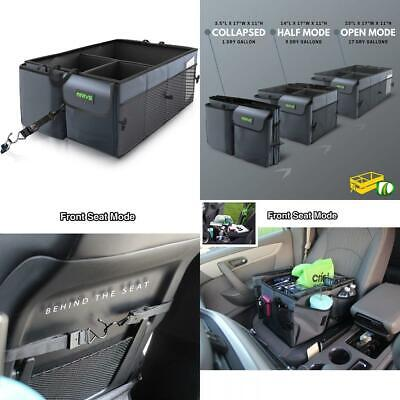 Drive Auto Products Car Organiser (Black) - Storage with Tie Down Straps,...