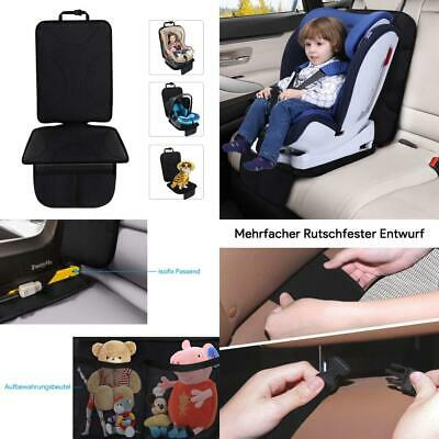 Qhui Car Seat Protector with Mesh Pockets, Isofix Triple Types Slip Proof...