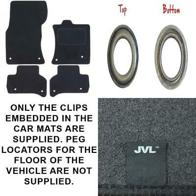 4 Pieces JVL Fully Tailored Car Mats with 4 Clips Black