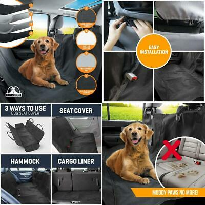 PetTech Luxury Dog Car Seat Cover For Rear Seats, Simple Standard