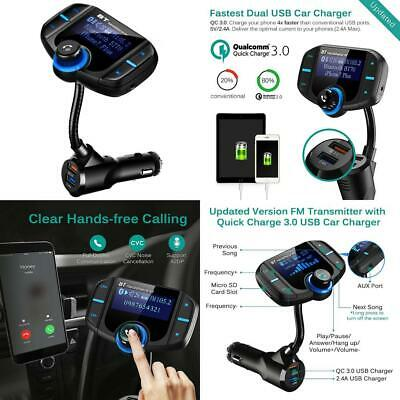 [Upgraded Version]FM Transmitter Car, CHGeek Quick Charge 3.0 and Smart...
