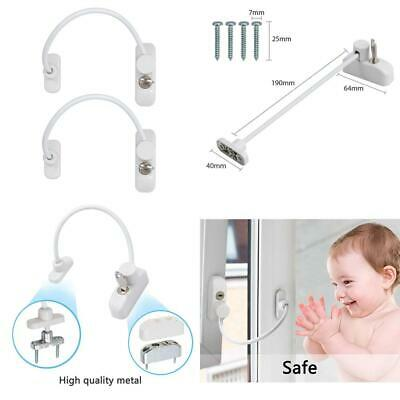 Proster Window Restrictor Locks Security Cable for Child Baby Size A 4PCS