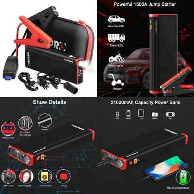 Jump Starter - 1500A 21000mAh Power Pack and Auto Battery Booster 1500A-UK