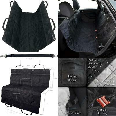 Picklebry Quilted Padded Dog Car Seat Cover and 140 x 145cm, BLACK