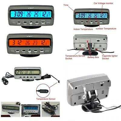 Aduomi Multifunctional 4 in 1 Car Digital Clock, In/Out Thermometer, Voltage...