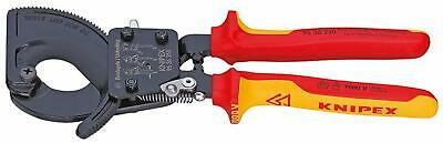 KNIPEX 95 36 250 Cable Cutter ratchet action insulated with...