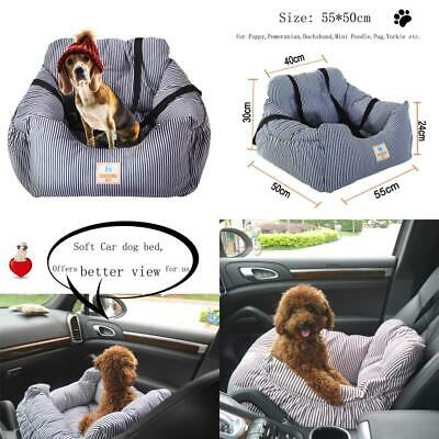 FRISTONE Dog Car Seat, Safety Pet Booster Seat for Blue-55 x 50x 30 cm