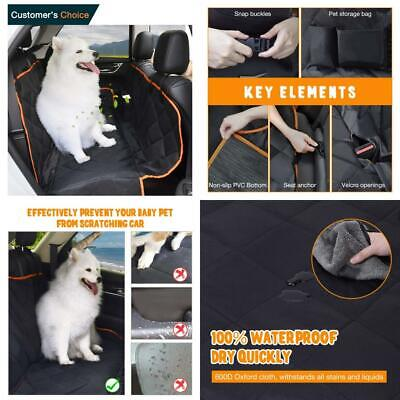 IEOKE Dog Car Seat Covers, Cover Waterproof & Scratch Proof & Nonslip With...