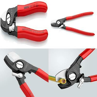 KNIPEX 95 21 165 cable shears with opening spring, for Cu and Al