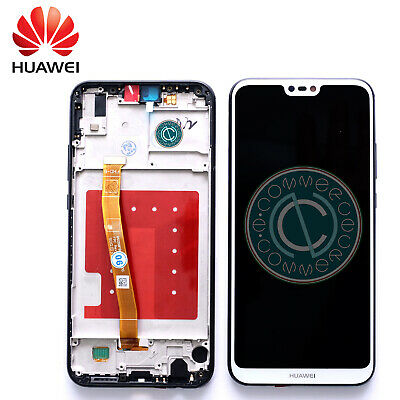 Huawei P20 Lite Ricambio Lcd Display Vetro Touch Screen Frame Bianco Originale
