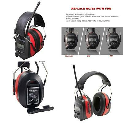 Rechargeable Ear Defenders with Bluetooth, FM/AM Digital Radio and...
