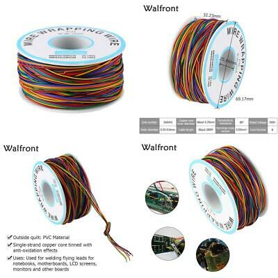 8-Wire Colored Insulation Test Wrapping Cable P/N B-30-1000 280M 30AWG...
