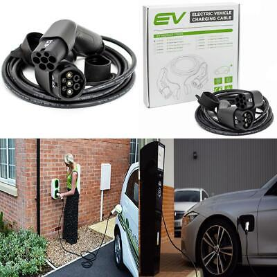 EV / Electric Car - Charging Cable - Type 2 to 2   16 Amp   5 Meter  
