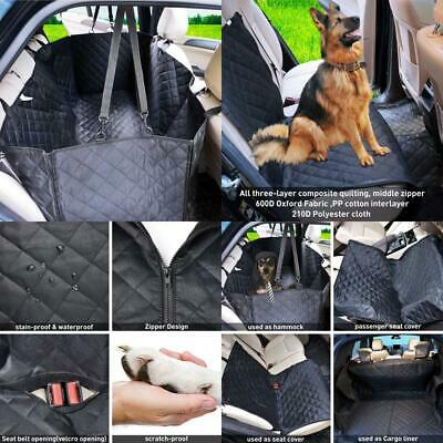 Dog Car Seat Covers - Cover with Side Flaps, Hammock Convertible...