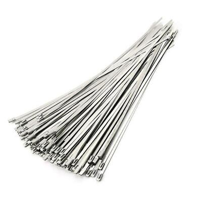 ANZESER Stainless Steel Zip Ties 4.6 * 300mm Exhaust Wrap Coated Locking...