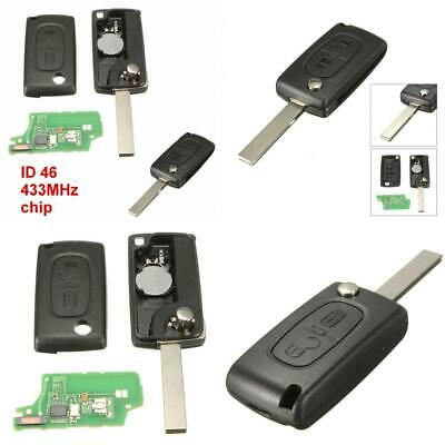 KaTur 3 Button Remote Flip Key Fob Shell Case Replacement For Citroen...