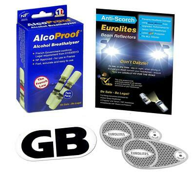 3 Piece Kit Headlamp Beam Deflectors Twin Pack French Breathalysers Long...
