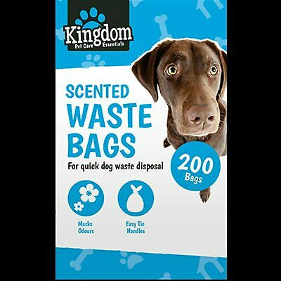 🔥200x Scented Dog Bags Dogs Puppy Poo Waste Poop Disposal Easy Tie Handle Doggy