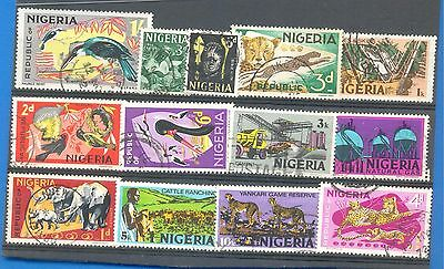Nigeria.a Small Selection Of Stamps.used