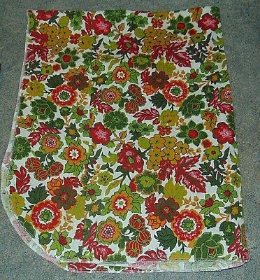 Tablecloth Floral Red Gold Green Rectangular