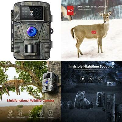 Victure IP66 Wildlife Trail Camera 12MP 1080P HD Infrared Cam with Night...