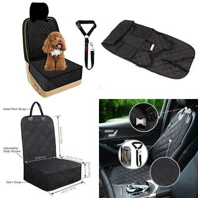 MAXTUF Car Front Seat Covers for dogs 900D Oxford Fabric Pet Travel black