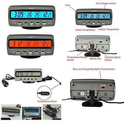 Itian Multifunctional 4 in 1 Car Digital Clock, In/Out Thermometer,...