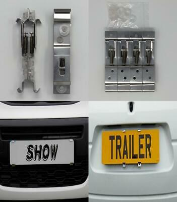 Bits4Reasons Showroom Show Display Number Plate Holders Clip On Spring...