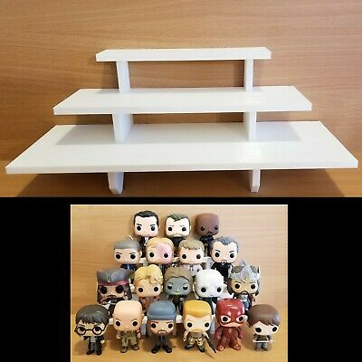 14 inch - White Funko Pop! Display Shelf Riser - Holds Up to 14 Pops On 3 Levels
