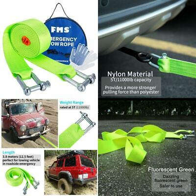 FMS Towing Belt, Tow Rope up to 5 Tonne, 3.8 Metre Long, Nylon Recovery...