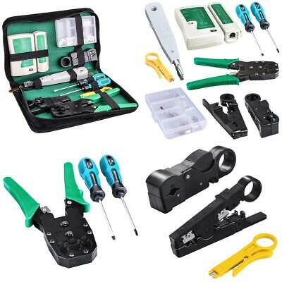 Kuman Network Cable Tester, RJ45 RJ11 Cat5 Wire Crimper Stripper with 10pcs...