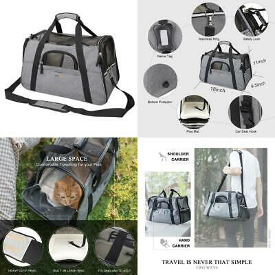 Petshoney Pet Travel Carrier Soft Sided with Mats- Airline Approved Dog/Cat...
