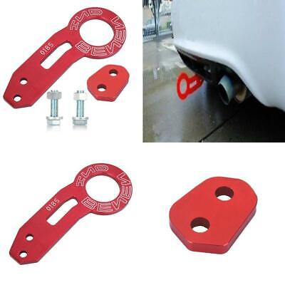 KKmoon for Universal Car Auto Trailer Ring Tow Hook Rear Towing Red