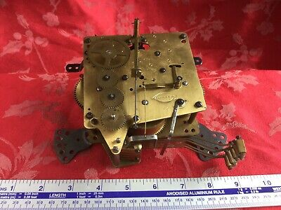 Unusual 1/4 Chiming French Mantel  Clock Movement Spares Repair