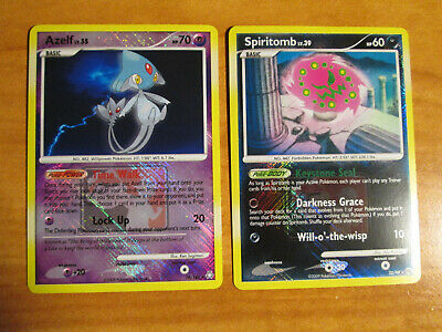 Spiritomb Carta Diamante e Perla Arceus Set NM League Pokemon Azelf