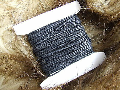Black waxed cotton cord/thong/string 1 mm 30 m or 180 y Jewellery Making finding