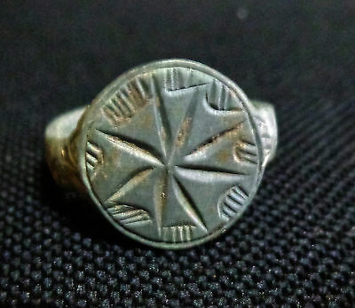 Roman male billon ring