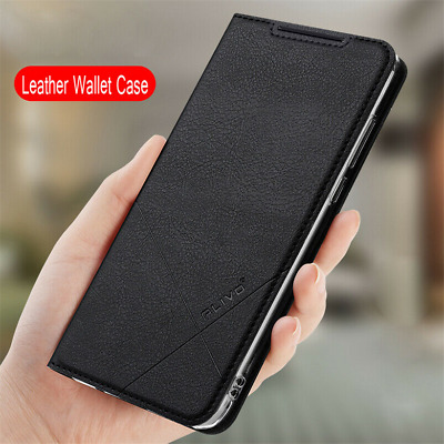 For Xiaomi Redmi Note 7 5 Pro 5A 4X Slim Magnetic Leather Wallet Flip Case Cover
