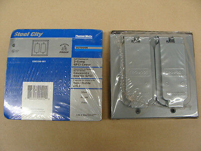 TB Steel City Red Dot WGF200-C Weather Proof 2 Gang GFCI Receptacle Outlet Cover