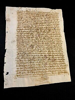 ANTIQUE  PAPER DOCUMENT 1490s