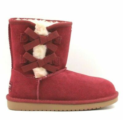 b9f31856446 NEW KIDS KOOLABURRA By Ugg Koloa Short UGG Boots Shoes Wild Plum ...