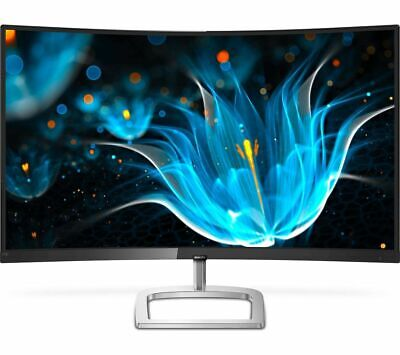 """PHILIPS 278E9QJAB Full HD 27"""" Curved LED Monitor - Black - Currys"""
