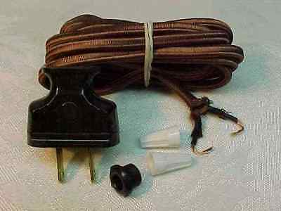 Cloth Covered Lamp Wire To Rewire Any Tiffany, Handel, Leaded Table Floor Lamp