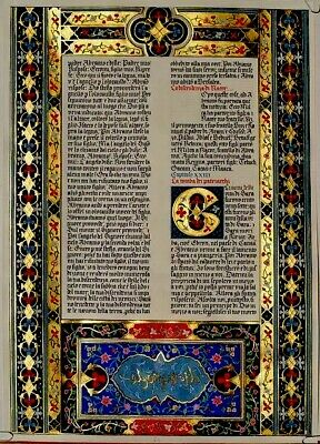 Illuminated Manuscript- Re-Production Ink Pen and Brush New